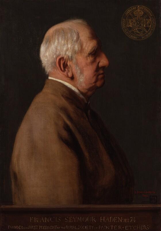 Sir Francis Seymour Haden, by George Percy Jacomb-Hood, 1892 - NPG 1826 - © National Portrait Gallery, London