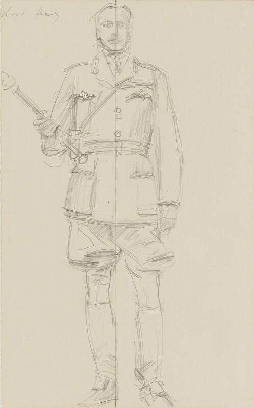 Douglas Haig, 1st Earl Haig, by John Singer Sargent, circa 1922 - NPG 2908(17) - © National Portrait Gallery, London