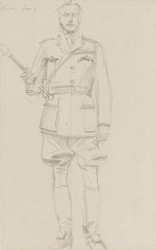 Douglas Haig, 1st Earl Haig, by John Singer Sargent, circa 1922 - NPG 2908(17) - © National Portrait Gallery, London