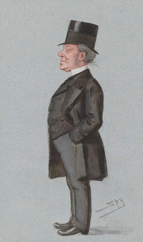 Hardinge Stanley Giffard, 1st Earl of Halsbury, by Sir Leslie Ward, published in Vanity Fair 22 June 1878 - NPG 3290 - © National Portrait Gallery, London