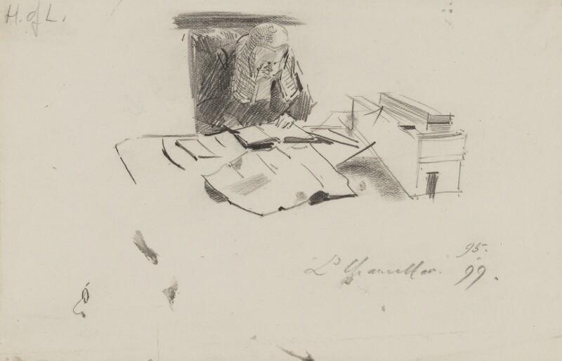 Hardinge Stanley Giffard, 1st Earl of Halsbury, by Sydney Prior Hall,  - NPG 2336 - © National Portrait Gallery, London
