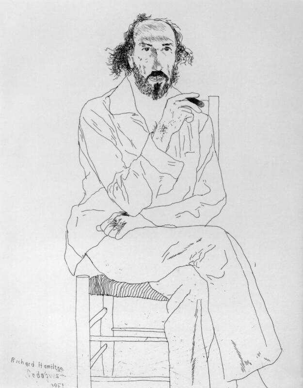Richard Hamilton, by David Hockney, 1971 - NPG 5279 - © David Hockney 1971