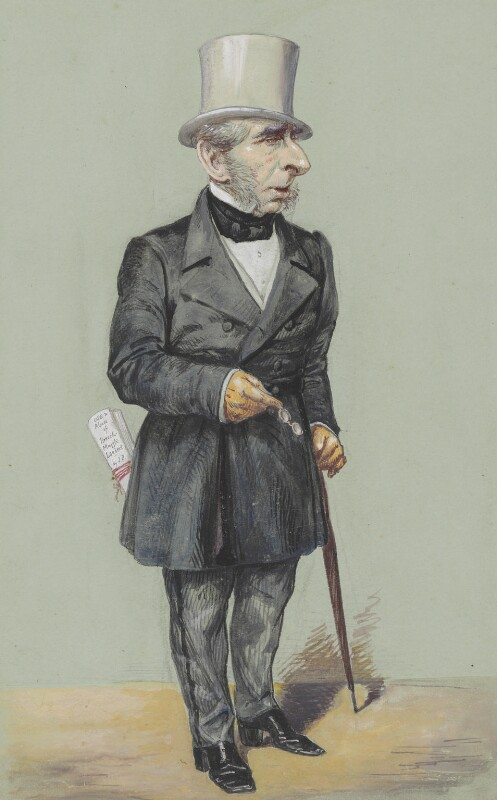 John Somerset Pakington, 1st Baron Hampton, by Alfred Thompson (Atn), published in Vanity Fair 12 February 1870 - NPG 2628 - © National Portrait Gallery, London