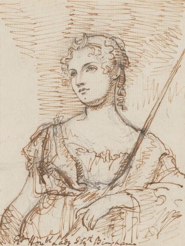 Lady Elizabeth Harcourt (née Bingham), by Sir George Hayter, circa 1814-1815 - NPG 883(12) - © National Portrait Gallery, London