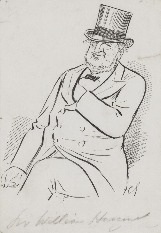 Sir William Vernon Harcourt, by Sir Francis Carruthers Gould ('F.C.G.'), early 1900s - NPG 2843 - © National Portrait Gallery, London