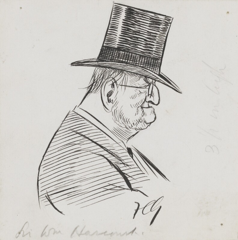 Sir William Vernon Harcourt, by Sir Francis Carruthers Gould ('F.C.G.'), early 1900s - NPG 2845 - © National Portrait Gallery, London