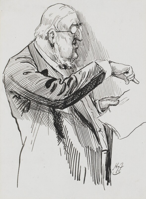 Sir William Vernon Harcourt, by Harry Furniss, 1880s-1900s - NPG 3390 - © National Portrait Gallery, London