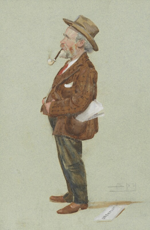 Keir Hardie, by Sir Leslie Ward, published in Vanity Fair 8 February 1906 - NPG 4456 - © National Portrait Gallery, London