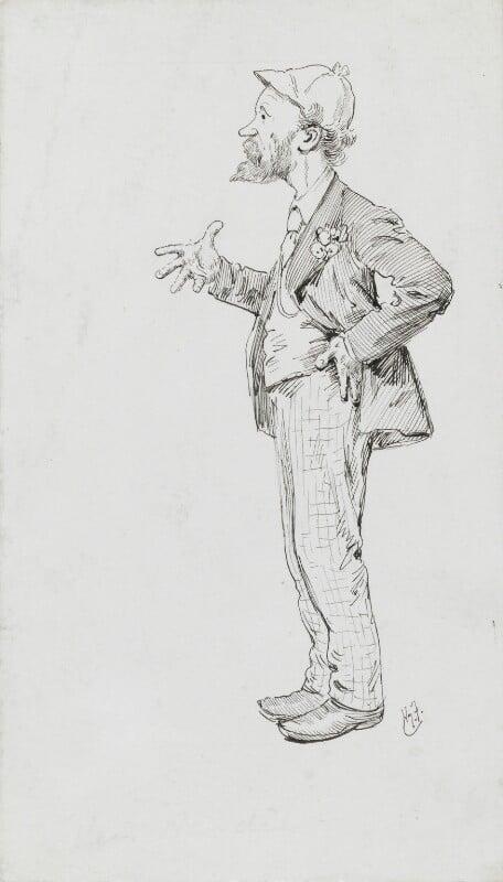 Keir Hardie, by Harry Furniss, before 1892 - NPG 3579 - © National Portrait Gallery, London