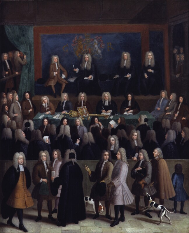 The Court of Chancery during the reign of George I, by Benjamin Ferrers, circa 1725 -NPG 798 - © National Portrait Gallery, London