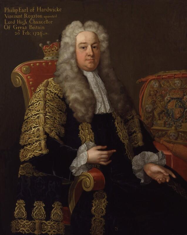 Philip Yorke, 1st Earl of Hardwicke, studio of Michael Dahl, circa 1737-1743 - NPG 872 - © National Portrait Gallery, London