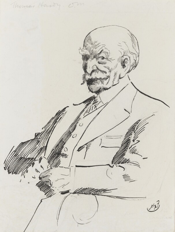 Thomas Hardy, by Harry Furniss, 1880s-1900s - NPG 3463 - © National Portrait Gallery, London