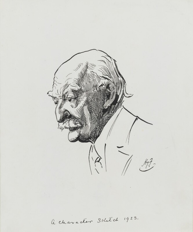 Thomas Hardy, by Harry Furniss, 1923 - NPG 3581 - © National Portrait Gallery, London
