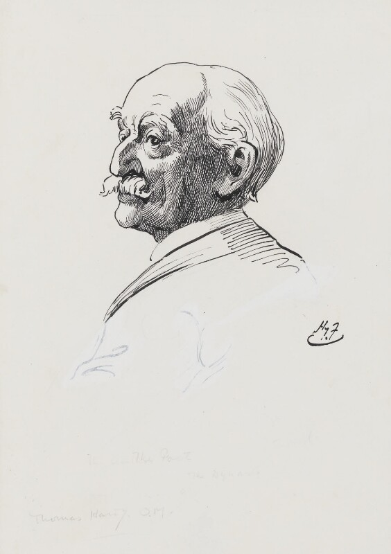 Thomas Hardy, by Harry Furniss, 1880s-1900s - NPG 3582 - © National Portrait Gallery, London