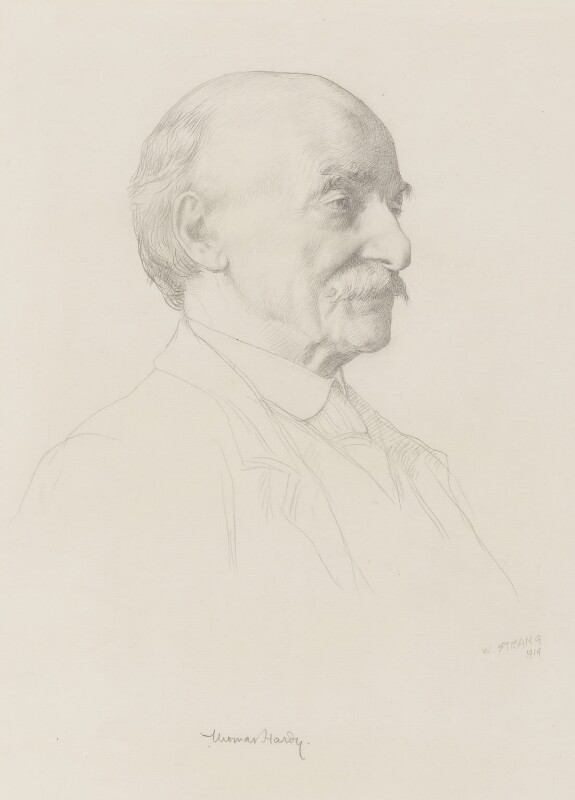 Thomas Hardy, by William Strang, 1919 - NPG 1922 - © National Portrait Gallery, London