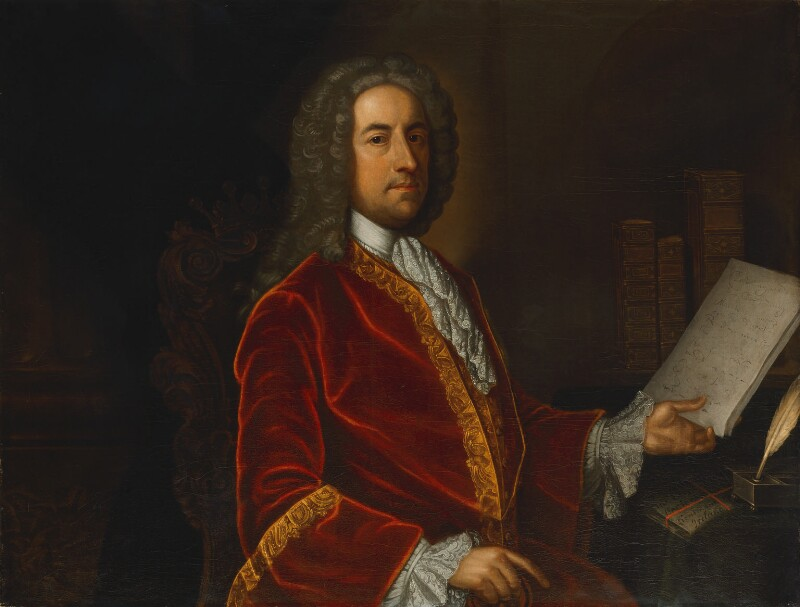 William Stanhope, 1st Earl of Harrington, by James Worsdale, 1746-1750 -NPG 4376 - © National Portrait Gallery, London
