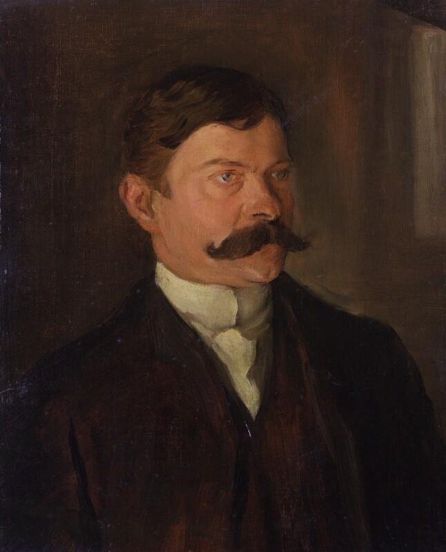 Frank Harris, by William Rothenstein, 1895 - NPG 6693 - © National Portrait Gallery, London