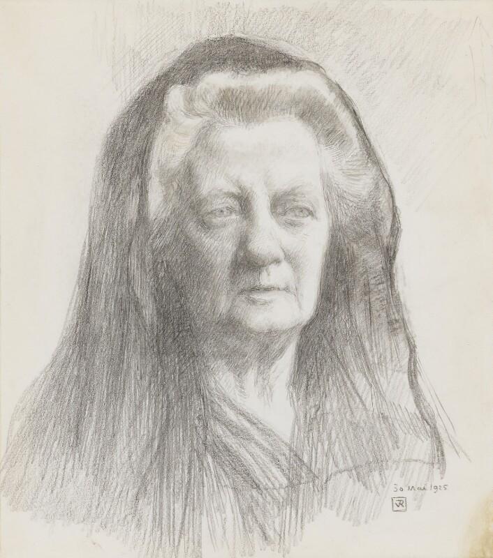 Jane Ellen Harrison, by Theo van Rysselberghe, 1925 - NPG 5220 - © National Portrait Gallery, London