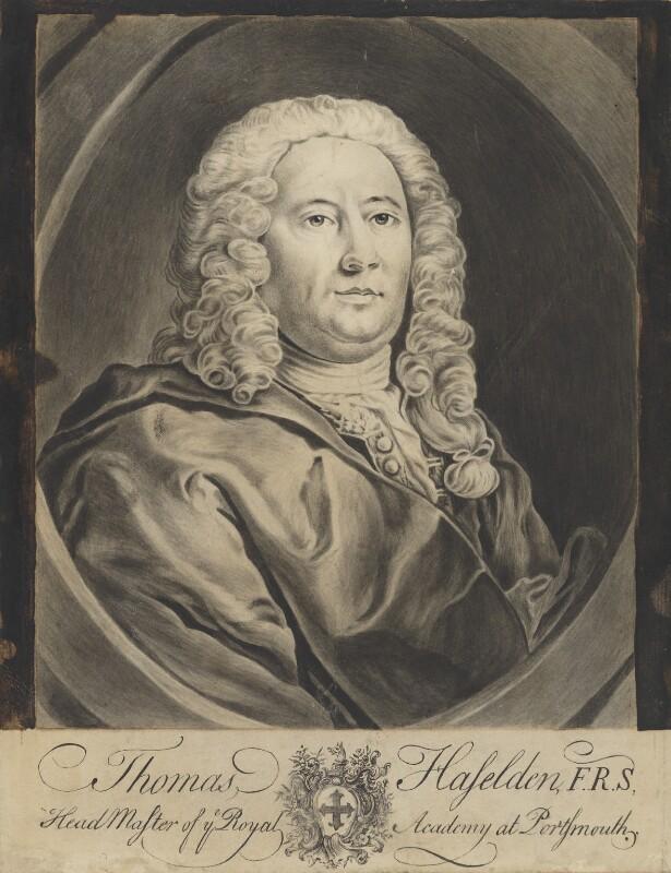 Thomas Haselden, by John Faber Jr, 1740, based on a work of 1740 -NPG 4122 - © National Portrait Gallery, London
