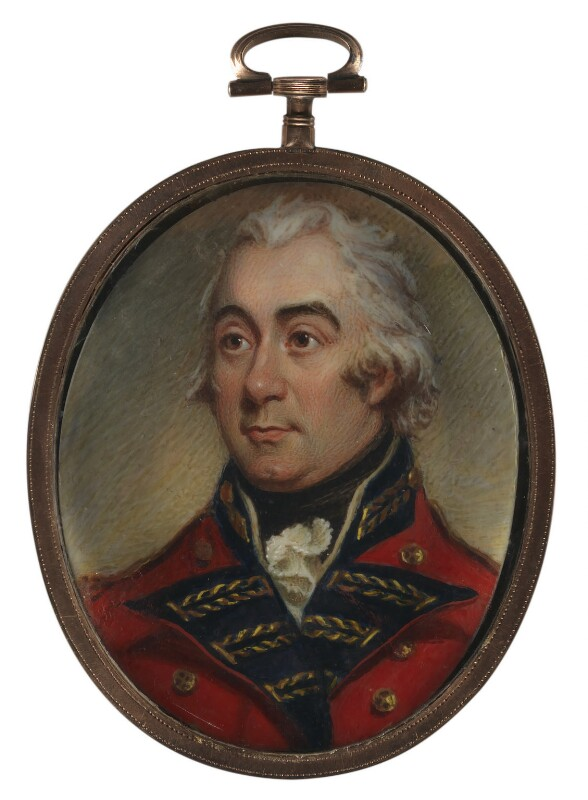 Francis Rawdon-Hastings, 1st Marquess of Hastings, by Thomas Mitchell; Sir Martin Archer Shee, early 19th century, based on a work of circa 1804 -NPG 6293 - © National Portrait Gallery, London