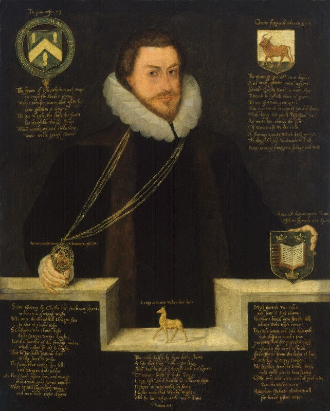 Sir Christopher Hatton, by Unknown artist, circa 1588-1591 - NPG 1518 - © National Portrait Gallery, London