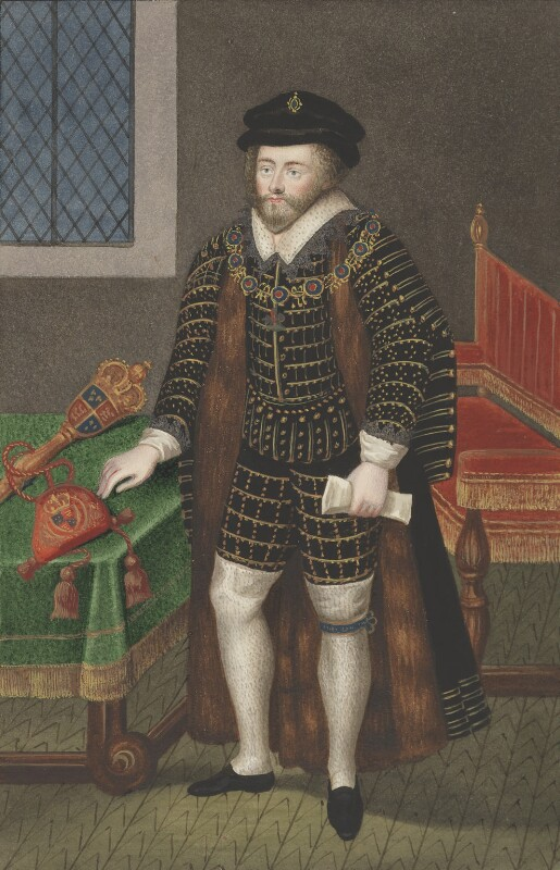 Sir Christopher Hatton, attributed to Silvester (Sylvester) Harding, after  Nicholas Hilliard, 1848, based on a work of circa 1588-1591 - NPG 2413 - © National Portrait Gallery, London