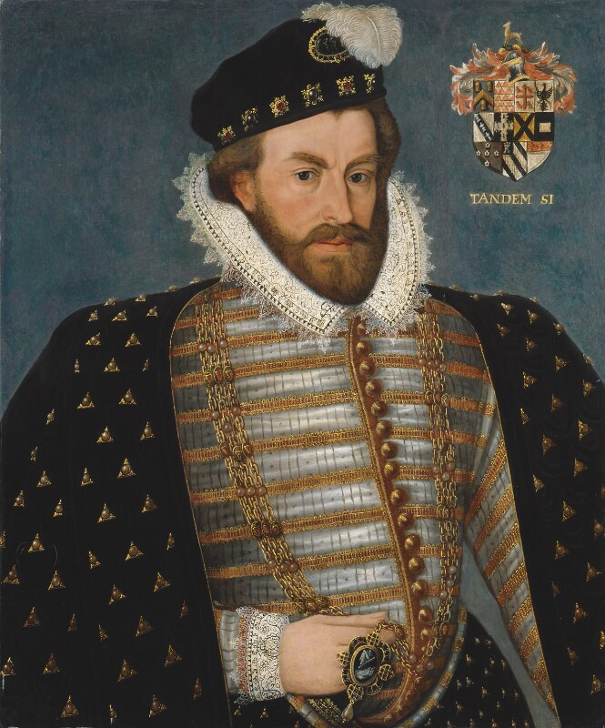 Sir Christopher Hatton, by Unknown artist, probably 17th century, based on a work of 1589 - NPG 2162 - © National Portrait Gallery, London