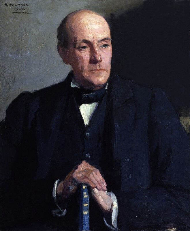 Sir Anthony Hope (Anthony Hope Hawkins), by Alfred Wolmark, 1908 - NPG 3974 - © National Portrait Gallery, London