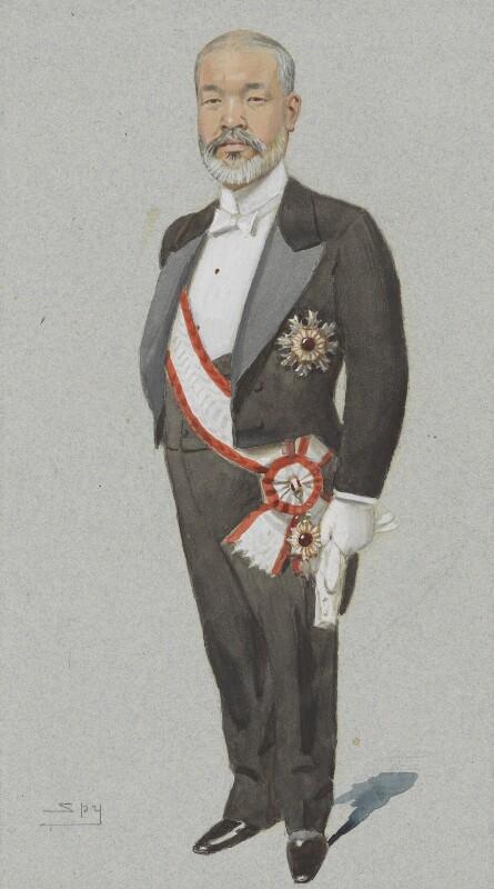 Viscount Tadasu Hayashi, by Sir Leslie Ward, published in Vanity Fair 24 April 1902 - NPG 4707(13) - © National Portrait Gallery, London