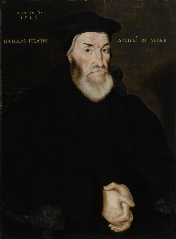 Nicholas Heath, by Hans Eworth, 1566 - NPG 1388 - © National Portrait Gallery, London