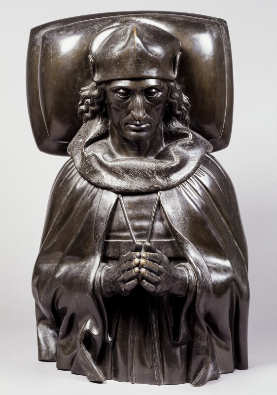 King Henry VII, by Elkington & Co, cast by  Domenico Brucciani, after  Pietro Torrigiano, 1870, based on a work of circa 1512-1519 - NPG 290 - © National Portrait Gallery, London
