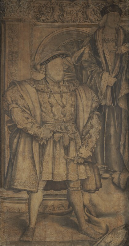 King Henry VIII; King Henry VII, by Hans Holbein the Younger, circa 1536-1537 - NPG 4027 - © National Portrait Gallery, London