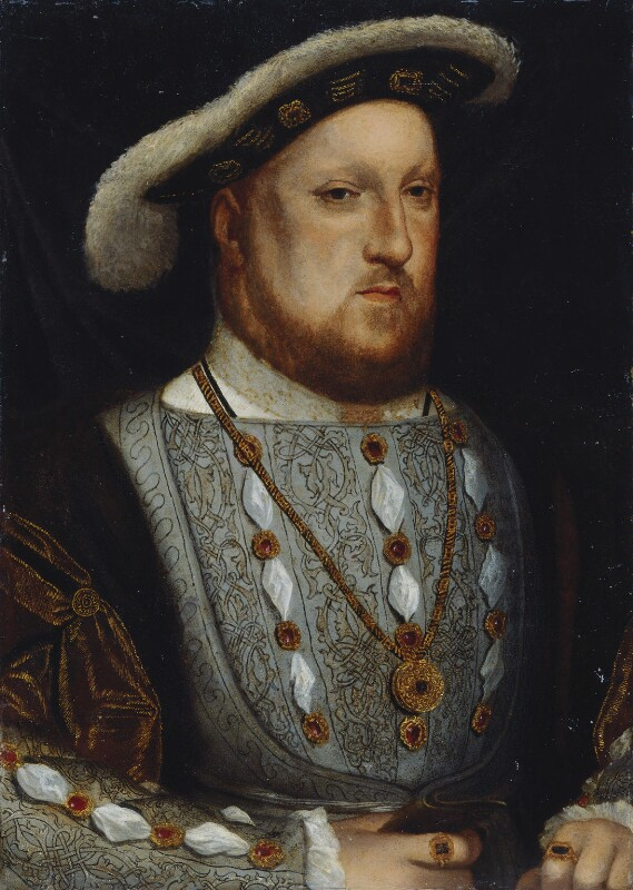 King Henry VIII, after Hans Holbein the Younger, probably 17th century, based on a work of 1536 - NPG 157 - © National Portrait Gallery, London