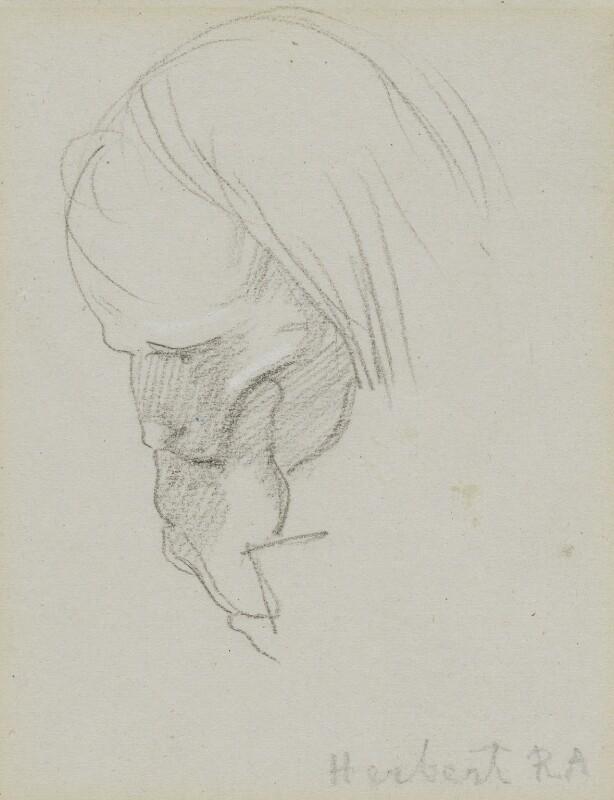 John Rogers Herbert, by Charles Hutton Lear, circa 1845 - NPG 1456(10) - © National Portrait Gallery, London