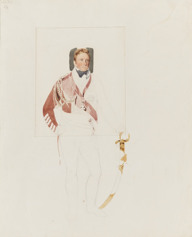 Rowland Hill, 1st Viscount Hill, by Thomas Heaphy, 1813-1814 - NPG 1914(7) - © National Portrait Gallery, London