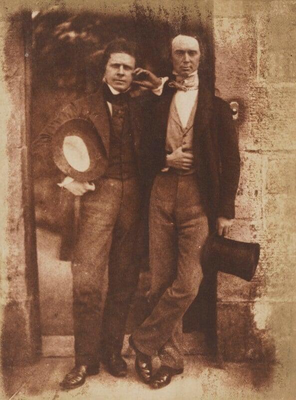 David Octavius Hill; William Borthwick Johnstone, by David Octavius Hill, and  Robert Adamson, 1843-1848 - NPG P6(100) - © National Portrait Gallery, London