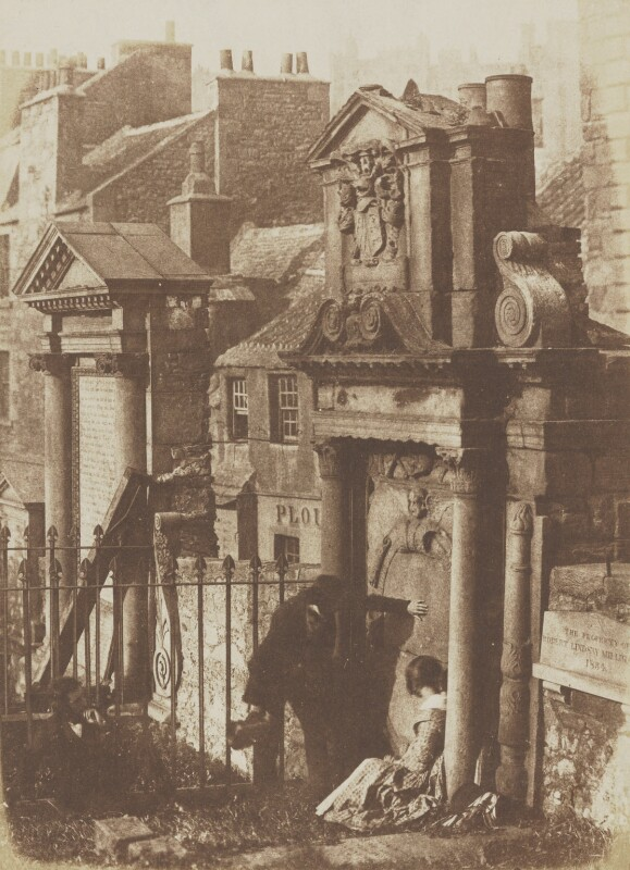 The Covenanter's Tomb, by David Octavius Hill, and  Robert Adamson, 1843-1848 - NPG P6(221) - © National Portrait Gallery, London