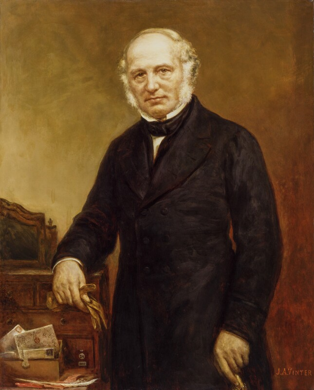 Sir Rowland Hill, by John Alfred Vinter, after  Maull & Polyblank, circa 1879, based on a work published in April 1857 - NPG 838 - © National Portrait Gallery, London