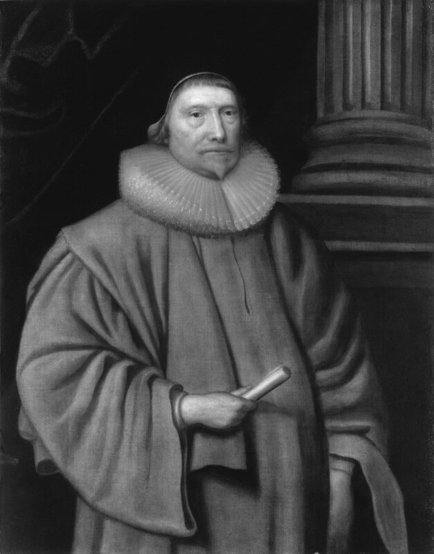 Sir Robert Hitcham, by Unknown artist, mid 17th century, based on a work of circa 1620 - NPG 467 - © National Portrait Gallery, London
