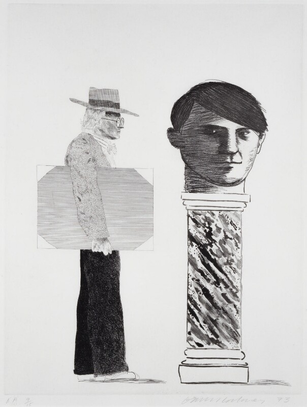 David Hockney ('The Student - Homage to Picasso'), by David Hockney, 1973 - NPG 5280 - © David Hockney 1973