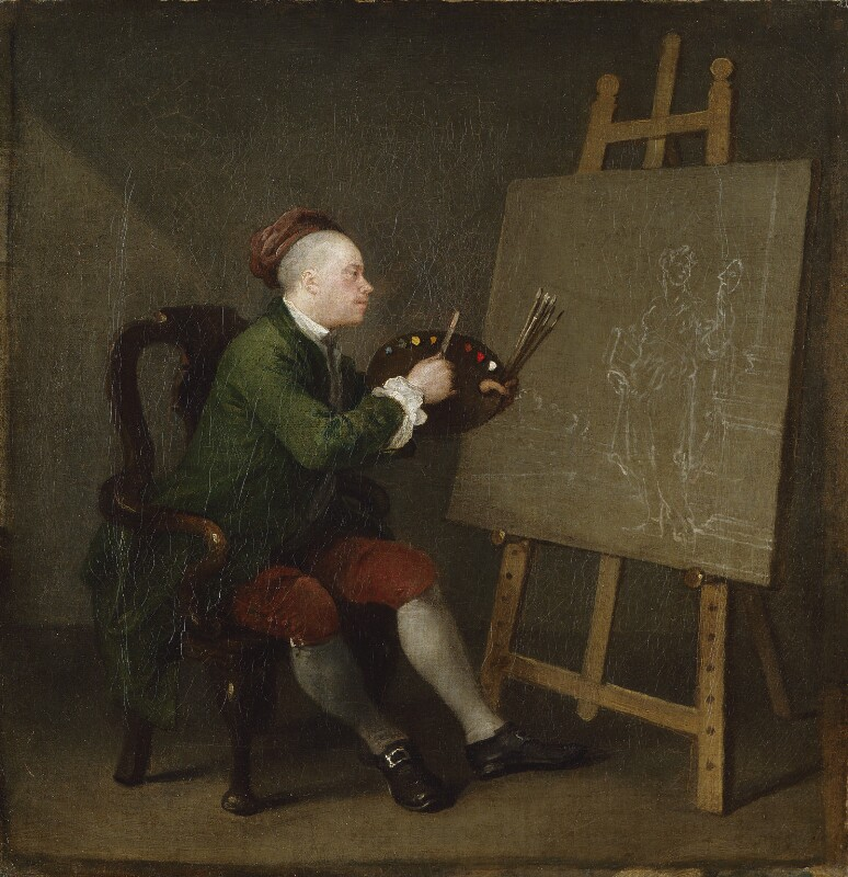 William Hogarth, by William Hogarth, 1758 - NPG 289 - © National Portrait Gallery, London