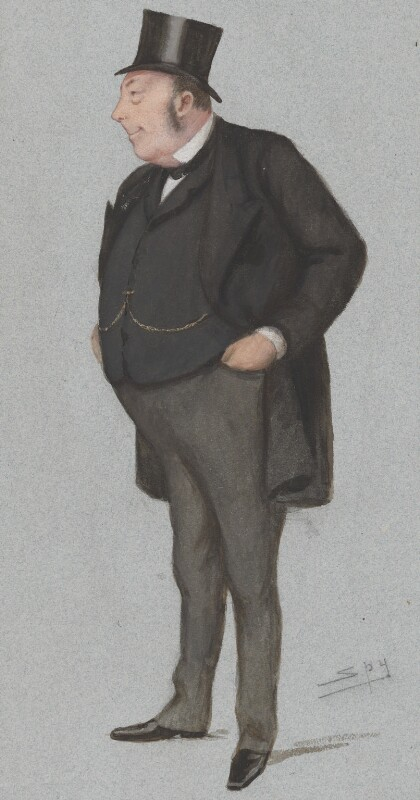 Sir John Holker, by Sir Leslie Ward, published in Vanity Fair 9 February 1878 - NPG 2722 - © National Portrait Gallery, London