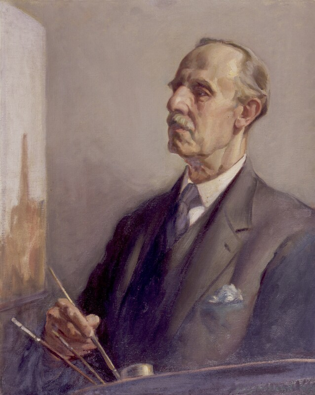 Sir Charles John Holmes, by George Herbert Buckingham Holland, 1934 - NPG 3549 - © National Portrait Gallery, London