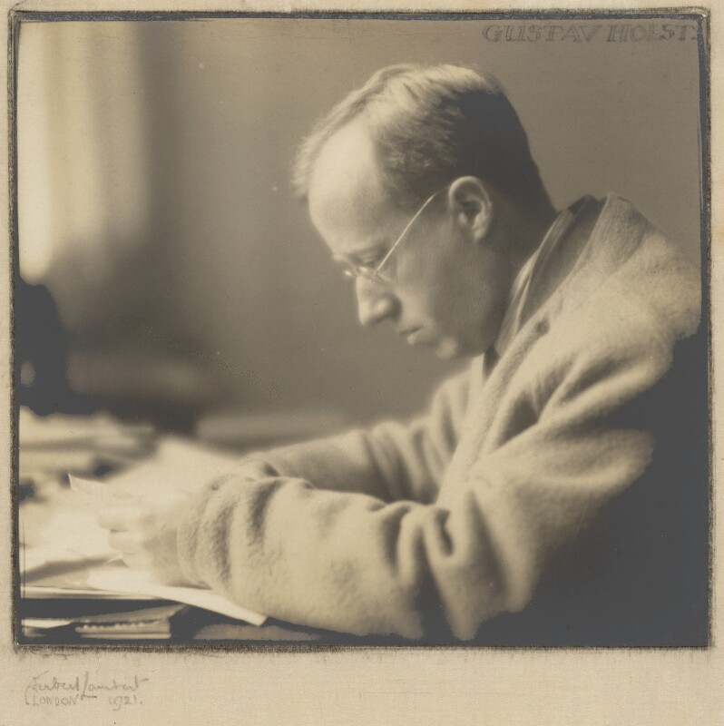 Gustav Holst, by Herbert Lambert, 1921 - NPG P109 - © National Portrait Gallery, London