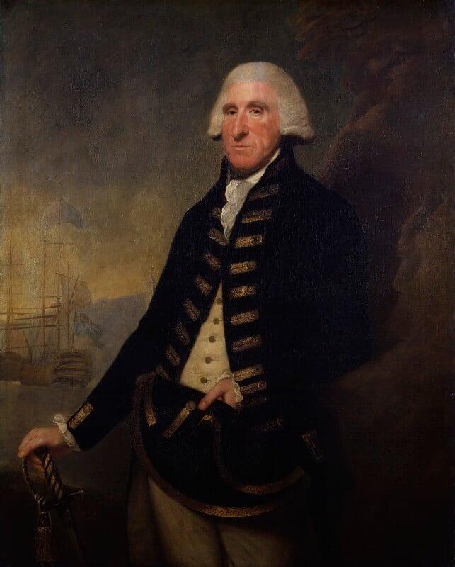 Samuel Hood, 1st Viscount Hood, replica by Lemuel Francis Abbott, 1795, based on a work of 1794 - NPG 628 - © National Portrait Gallery, London