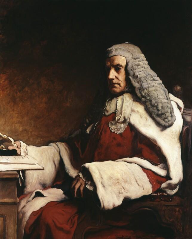 Sir John Walter Huddleston, by Frank Holl, 1888 - NPG 1410 - © National Portrait Gallery, London