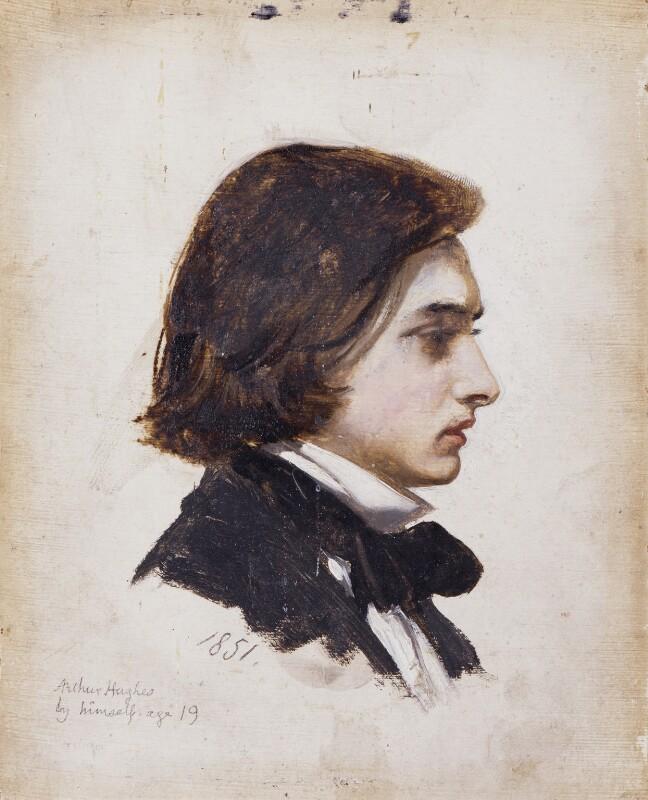 Arthur Hughes, by Arthur Hughes, 1851 - NPG 2759 - © National Portrait Gallery, London
