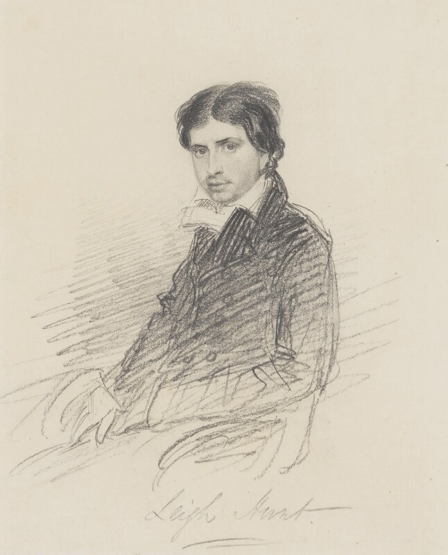 James Henry Leigh Hunt, by Thomas Charles Wageman, 1815 - NPG 4505 - © National Portrait Gallery, London