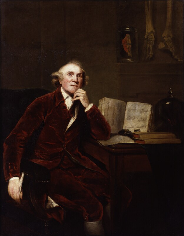 John Hunter, by John Jackson; Sir Joshua Reynolds, 1813, based on a work of 1786 -NPG 77 - © National Portrait Gallery, London