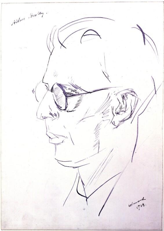 Aldous Huxley, by Alfred Wolmark, 1928 - NPG 4485 - © National Portrait Gallery, London
